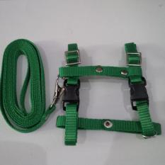 Harness H uk S + Leash Hijau Muda untuk Kucing, Kelinci, Musang, Puppy Small breed
