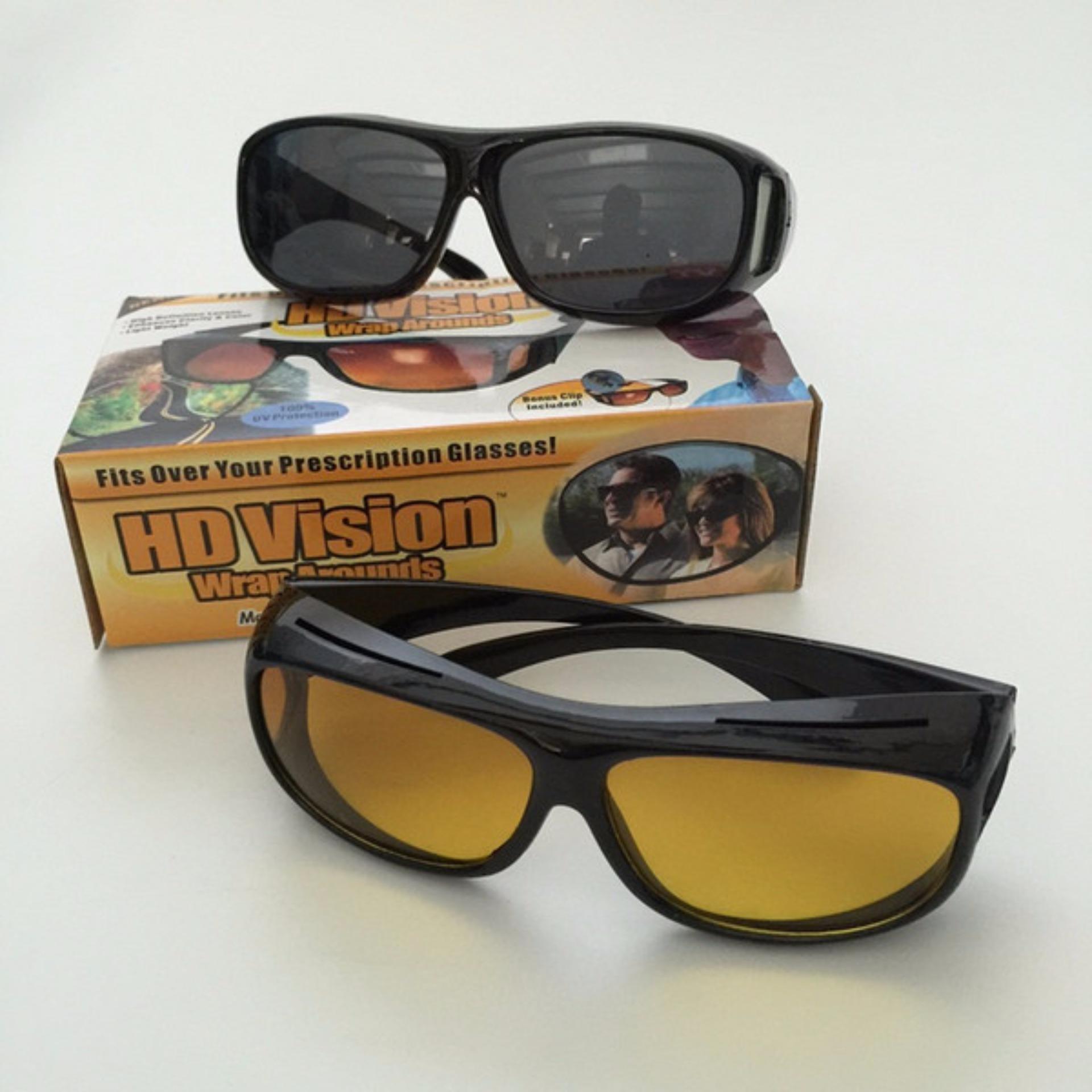 Perbandingan Harga Hd Vision High Quality Kacamata Anti Silau Night View Aimons Glasses Kaca Mata Sport Version Touring 2pcs Untuk Siang Dan Malam