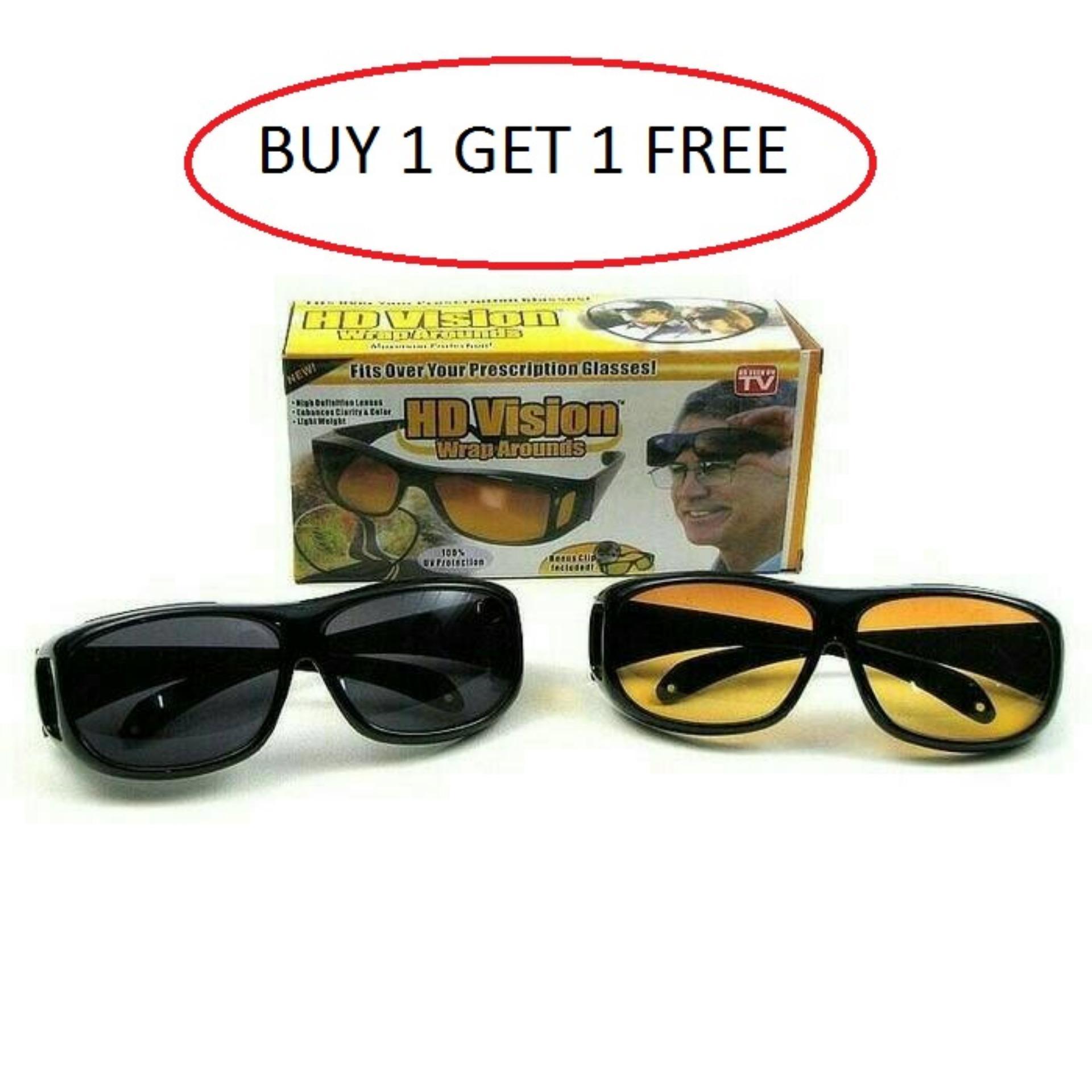 Pencari Harga HD vision kacamata anti silau Siang   Malam isi 2pcs ... e2dead1e9b