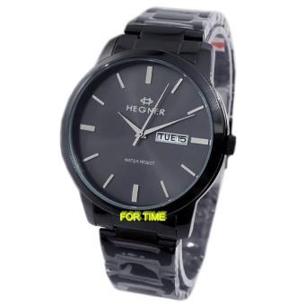 Hegner - H3906M - Jam Tangan Pria - Strap Stainless Steel - Hitam Silver