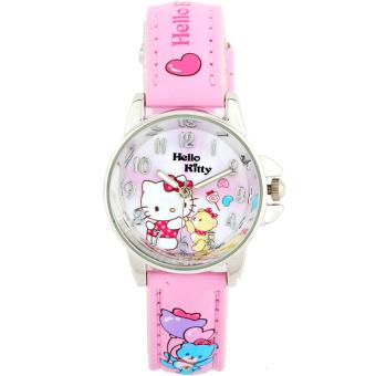Hello Kitty lucu KT kucing gadis sekolah dasar anak-anak menonton jam tangan jam tangan