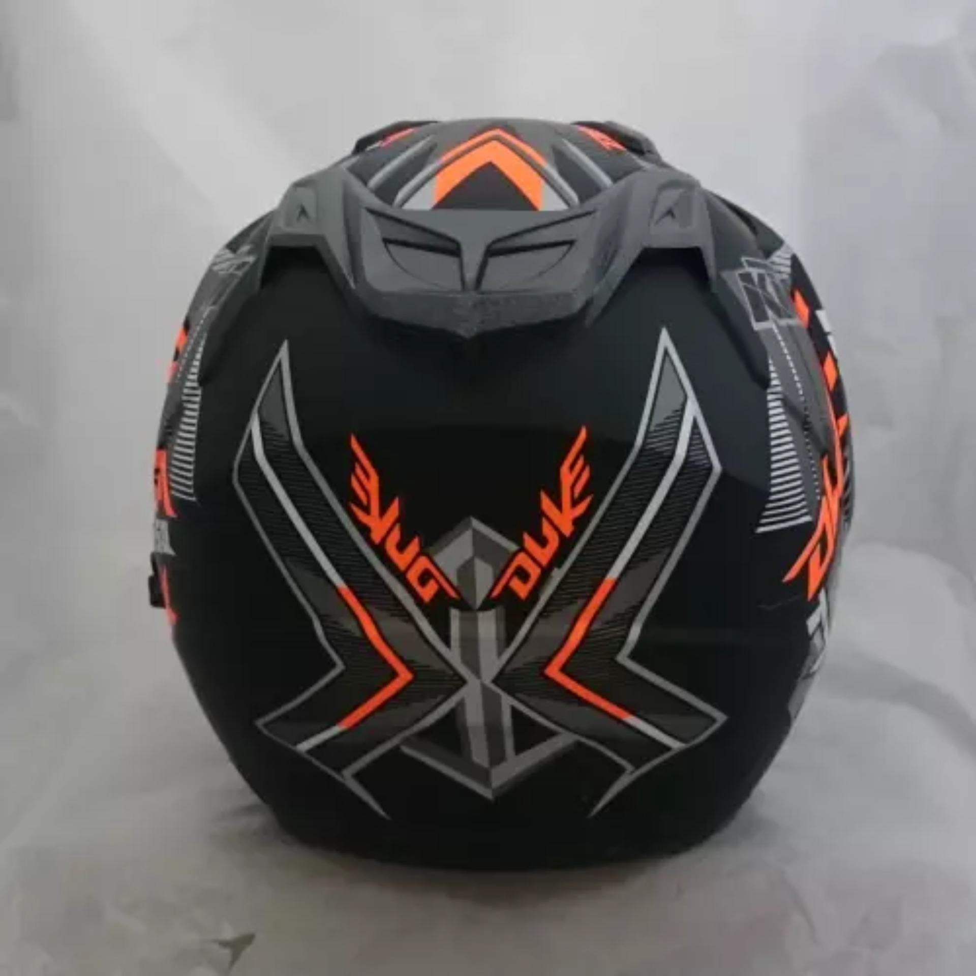 Periksa Peringkat Helm 2 Kaca Double Visor Murah Duke Black Doff Zeus Half Face Zs 610k Polos Hijau Tua Dove Orange Dmn