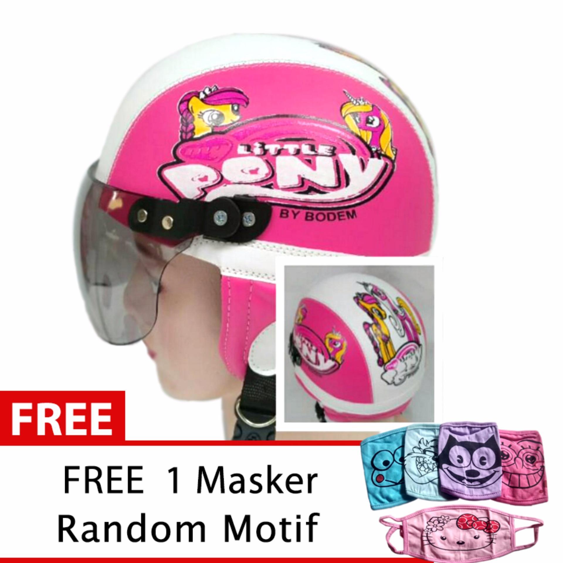 Helm Anak Retro Usia 1- 4 Tahun Motif Litlle Pony Pink/