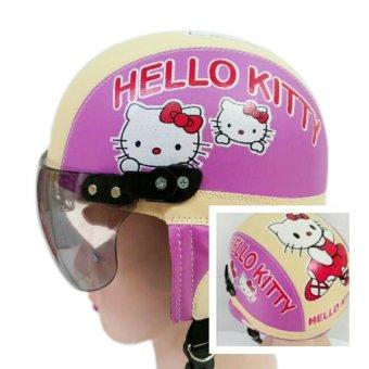 Helm Anak Unyu-unyu Model Retro Karakter Hellow Kity [1 - 5 Tahun]