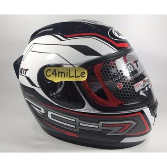 Helm Full Face KYT RC 7 / RC7 #14 White Black Red