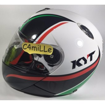 Helm Full Face KYT Xrocket / x rocket #2 white black red