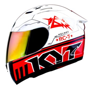 Helm KYT RC Seven Seri 11 White Black Red