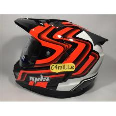 Helm MDS Super Pro White Black Red Fluo Double Visor Cross Trail