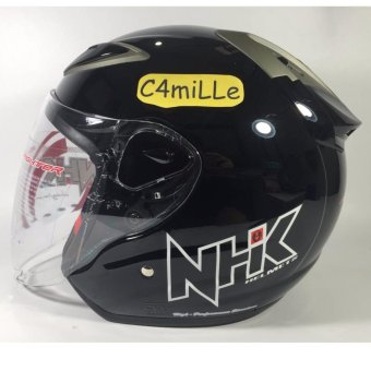 HELM NHK R6 SOLID BLACK HALF FACE