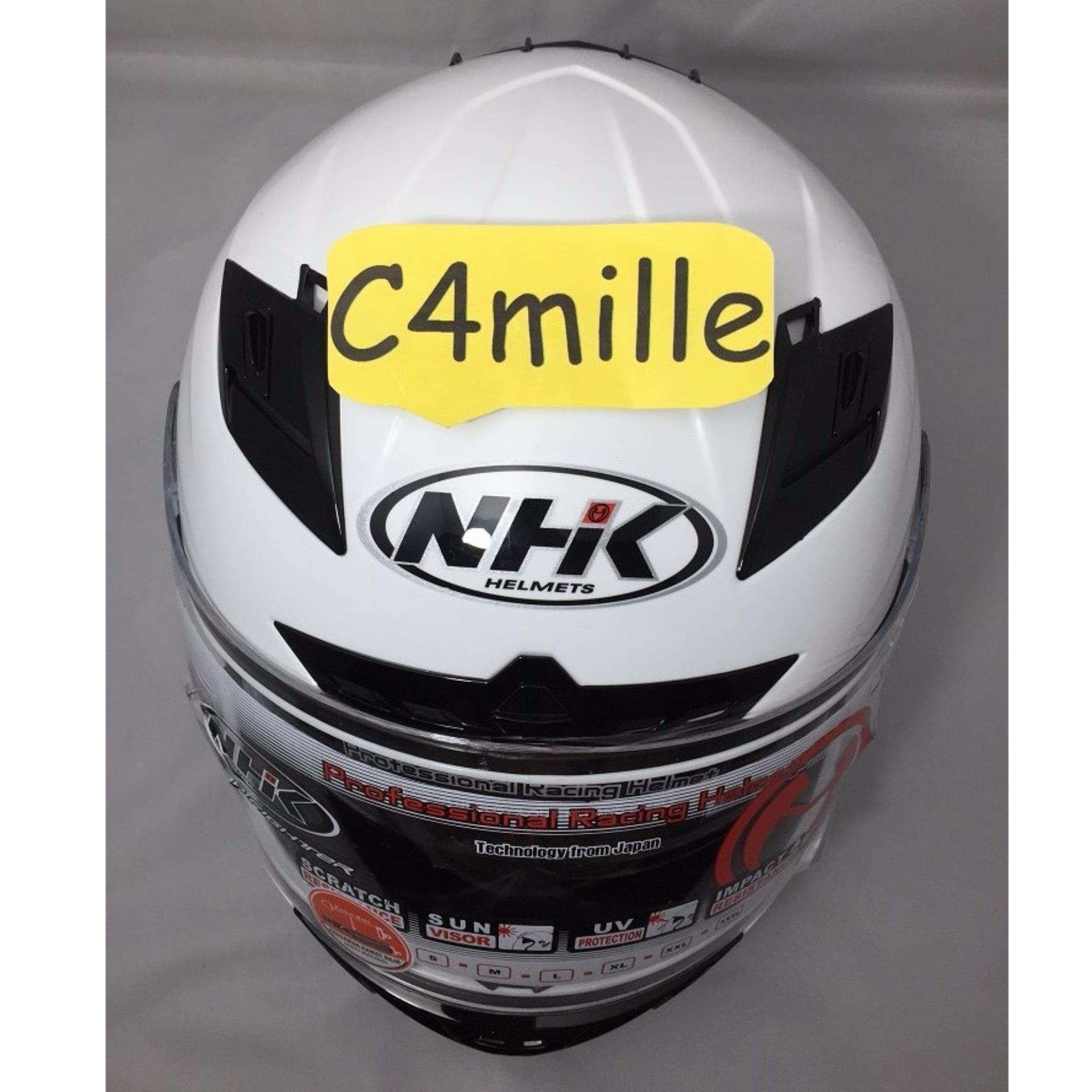 Belanja Terbaik Helm Nhk Rx 9 Solid White Full Face Rx9 Eshop Checker Gp1000 Xvision Yellow