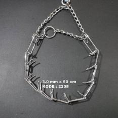 Henpets 2205 - Spiked Chocke Chain Collar 50cm x 3mm