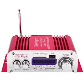 Hi-Fi Digital Auto Car Stereo Power Amplifier LED Mode Suara Audio Pemutar Musik Dukungan USB MP3 DVD SD MMC FM -Intl