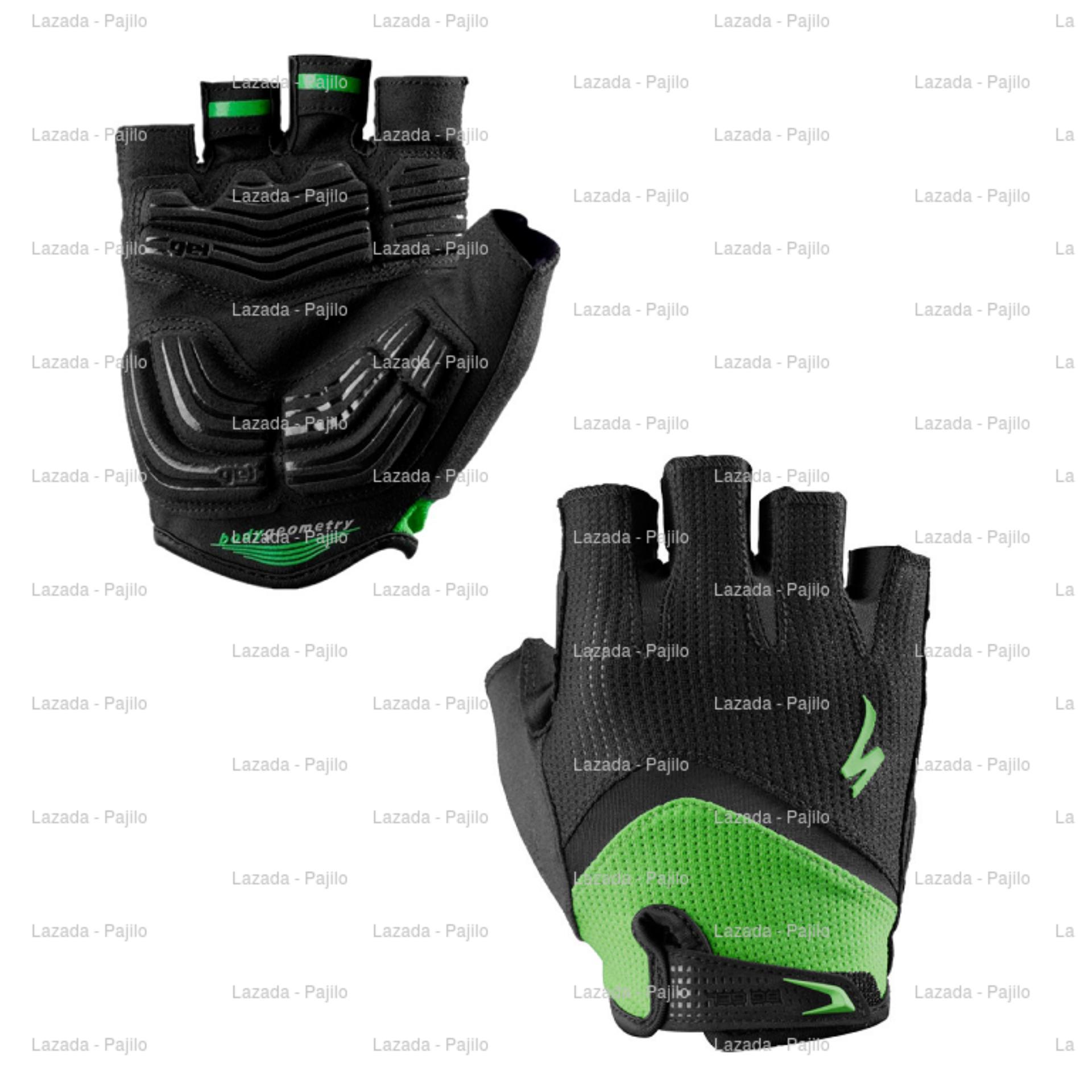 Hijau Specialized Half Bg Gel Wiretap Sarung Tangan Sepeda Motor Rockbros S109 Bike Glove Finger Green Full Touring Tour Bikers