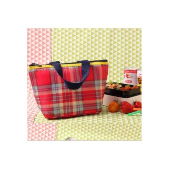Iconic Insulated Lunch Bag Cooler / Tas Bekal Makan MotifKOTAK-KOTAK