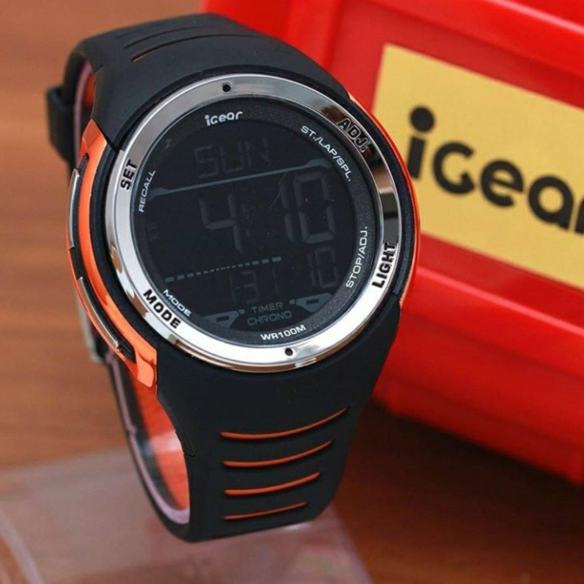 Sanwood 630440 Jam Tangan Pria Strap Karet Sports Racing Biru Adidas Adh9070 Gt Rubber Mens Watch Source Igear Original I16