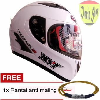 Harga KYT Vendeta2 Solid Doble Visor And Air Pump System (Putih)