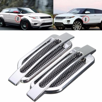 Harga Car Side Air Flow Vent Fender Hole Cover Intake Grille Duct Decoration Sticker - intl