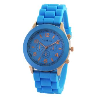 Harga Jam Tangan Geneve Ladies Cosmo Full Colour - Biru Langit