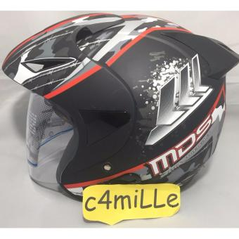 Harga Helm MDS Protector #5 flat black red