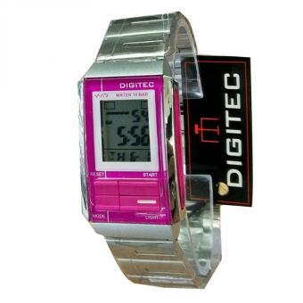 Digitec - Jam Tangan Wanita - stailess - pink silver- DG6521