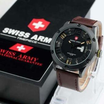 ... 504 Source Swiss Army TimePiece Jam Tangan Pria Original Strap Kulit SA 3035