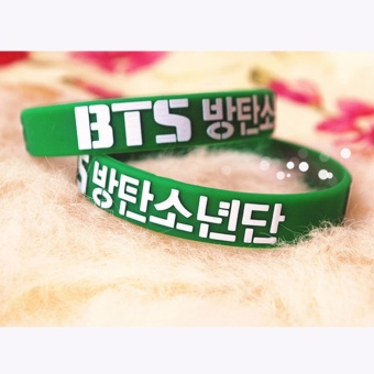Harga Hequ Youpop Wholesale KPOP Fan BTS Bangtan Boys Bulletproof Boy 3D Sport Silicone Friendship Boys and Girls - intl
