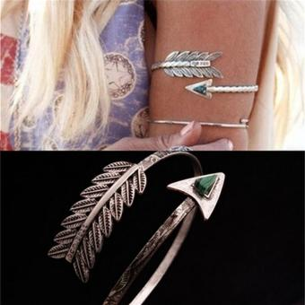 Harga Bohemian Ethnic Upper Arm Bracelet Vintage Arrow Open Bangle Armlet Arm Cuff - intl