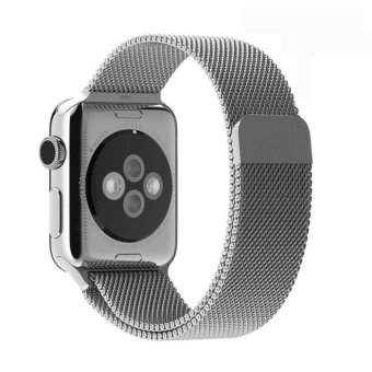Harga GAKTAI Replacement Milanese Magnetic Loop Stainless Steel Strap Watch Bands For Apple Watch iWatch 38MM - Silver - intl