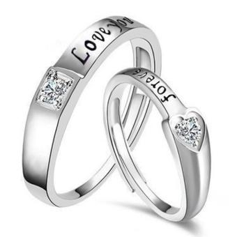 Diskon Penjualan ERA New Stainless Steel Titanium Screw Hand Love Source · Fashion Lovers Rings Silver