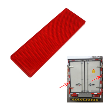 2x Red Plastic Reflective Warning Plate/Tape Stickers For Car Truck Sign Signl