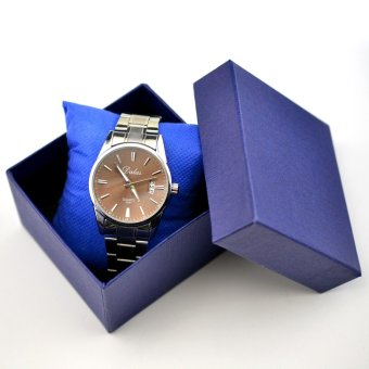 Kotak jam tangan Chic Square Case penyimpanan dengan spons bantal multifungsi hadiah kotak kado cantik kotak