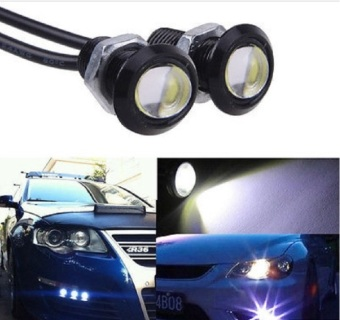Harga JMS - 1 Pair / (2 Pcs) Lampu LED Mobil / Motor Eagle Eye DRL Daytime / Turn Signal Light / Lampu Sein 3W 18MM - White