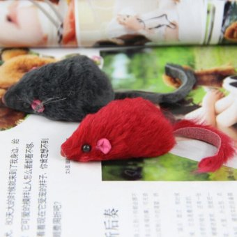 Harga 2Pcs Soft Fleece False Mouse Cat Toys Funny Playing Toys For Cats Kitten - intl