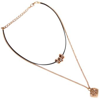 Harga Timmy Small Flower Crystal 2 Layers Chocker Necklace - Kalung Chocker Wanita