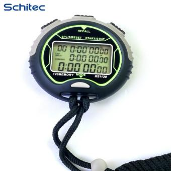 Harga SCHITEC multi-function waterproof stopwatch, Memory (120) 1/100 second large screen, 3-row display anti-skid stopwatch, sports time, clock, calendar, week, sports special timer, running timer, outdoor referee supplies stopwatch - intl
