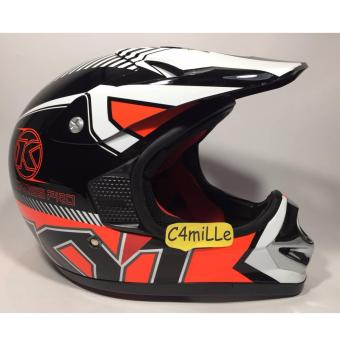 Harga HELM KYT CROSS PRO #9 BLACK RED FLUO SUPERCROSS MOTO CROSS TRAIL
