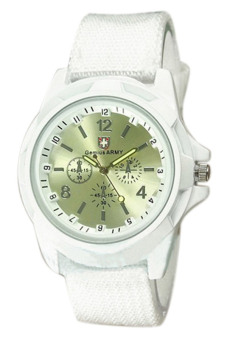 Harga Blue lans Military Nylon Quartz Wrist Watch (White)
