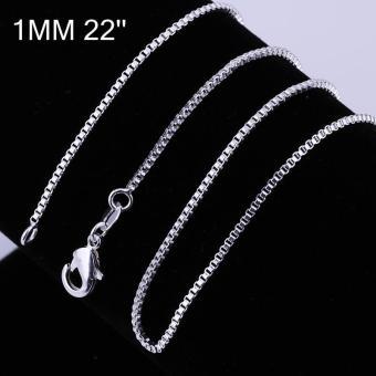 Tiaria Chain Necklace LKNSPCC007-18 Aksesoris Kalung Rantai Lapis Silver