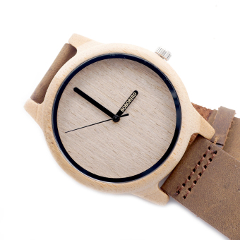 Harga BOBO BIRD A22 Bamboo Wood Quartz Analog Watch Miyota Japanese 2035 Movement With Logo Pointer in Gift Box - intl