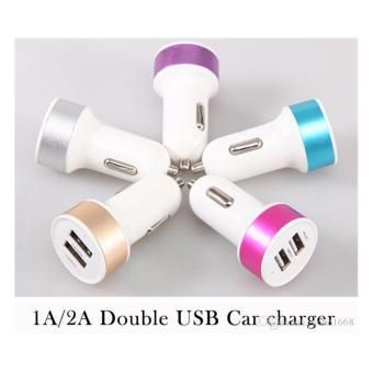 Harga Mesh Charger Mobil Dual USB 1A / 2.1A Car Charger 2USB Multicolor