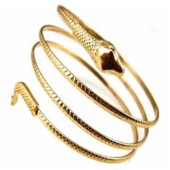 Harga Phoenix B2C Punk Fashion Coiled Snake Spiral Upper Arm Cuff Armlet Armband Bangle Bracelet (Gold)