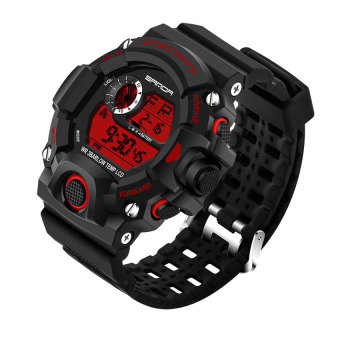 Harga 2016 High Quality SANDA 326 Men's Outdoor Sports Multifunctional Waterproof Electronic Watch (red)