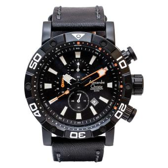 Harga Alexandre Christie ACF-6413-MCLIPBA Pria Leather - Black