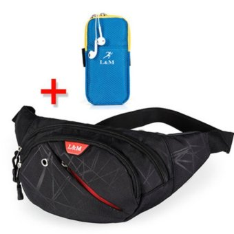 Harga Waist Bags Men Messenger Bag Men's Bags Shoulder Bag Casual Sports Female Outdoors Multi-function - intl