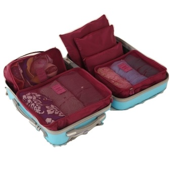 Harga Fipro 6 in 1 Bags in Bag Travel Organizer Set - Wine Red