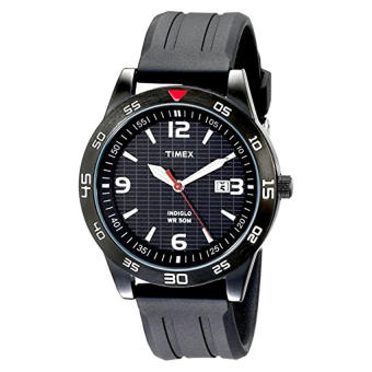 "Harga Timex Men's T2N694 ""Elevated Classics"" Watch with Black Resin Strap - Intl"