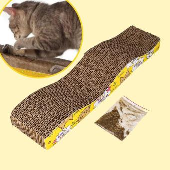 Harga Cat Corrugated Cardboard Scratch Board Pad Scratcher Bed Mat Claws Care Toy - intl