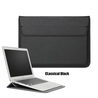 Harga Bora 15.4'' Laptop Case Sleeve PU Leather Waterproof Case Withe Stand Function Protective Carrying Bag for MacBook Air/Pro Retian,ASus,Dell, Fujitsu, Lenovo, HP, Samsung, Sony, Toshiba - intl