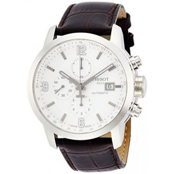 Harga Tissot Mens Automatic Stainless Steel and Brown Leather Dress Watch (Model: T0554271601700) - intl