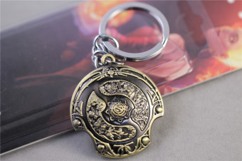 Harga LYBALL Key Chain Dota 2 Champions Medal Aegis of Champions Model Keychain Pendant Keyring In Box